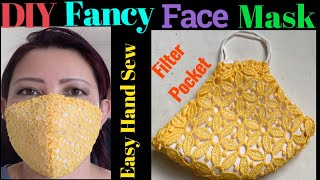 165 How To Make The Most Beautiful Elegant Face Mask For Any Special Occasions With Filter Pocket