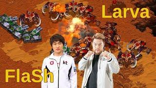 Flash vs Larva - You shouldn't miss this epic battle - Starcraft remastered