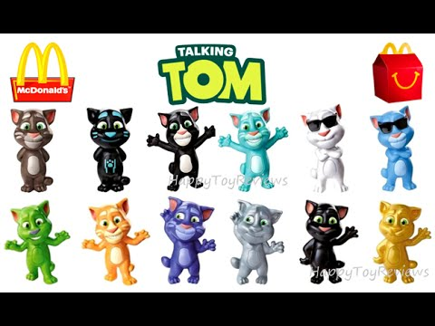 2016 Mcdonald S Talking Tom Cat Complete Set 12 Happy Meal Toys