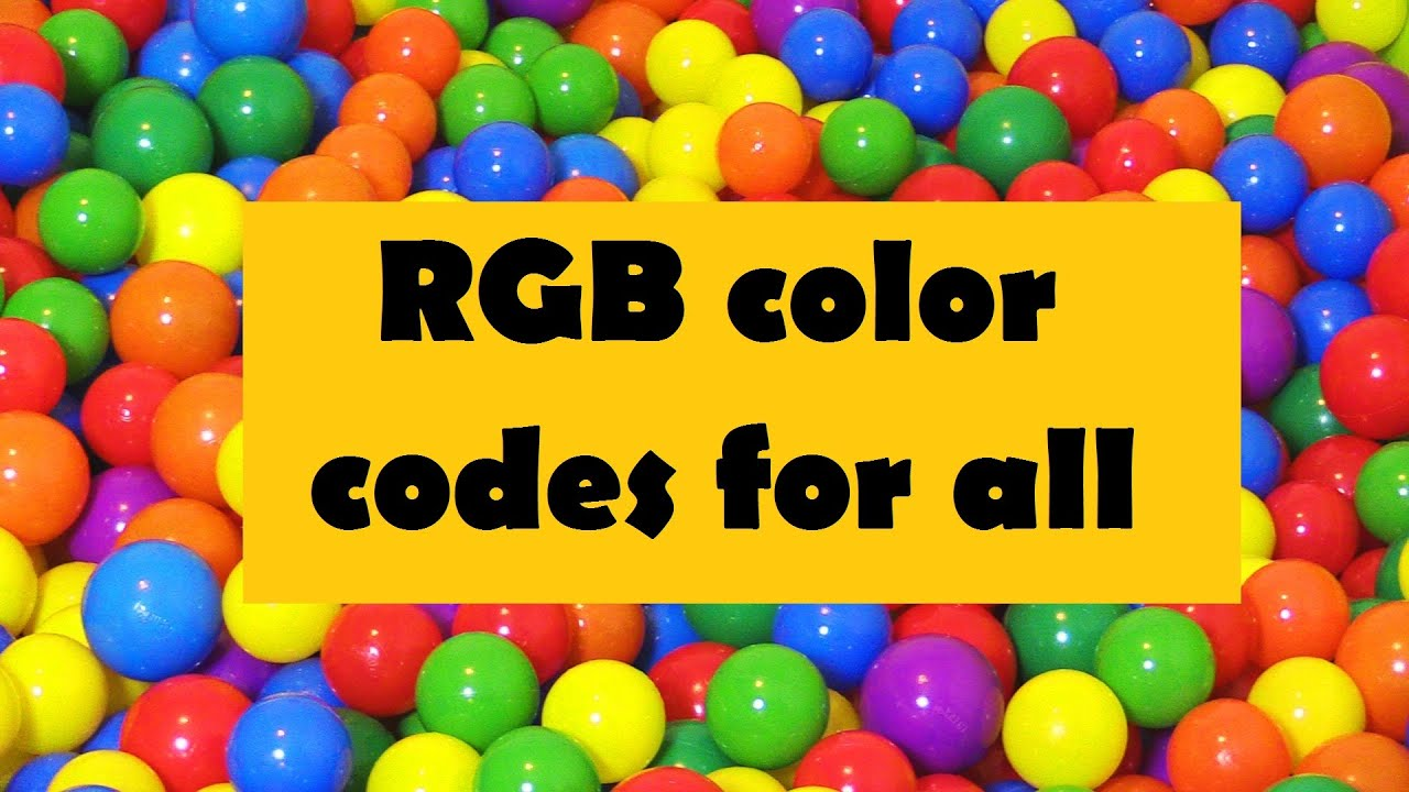 how to find the rgb code