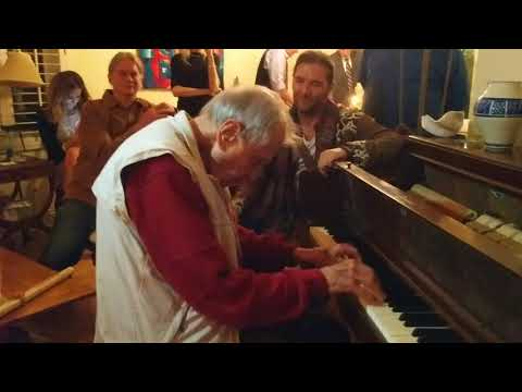 Stanley plays two Brazilian folk songs at his 85th birthday party.