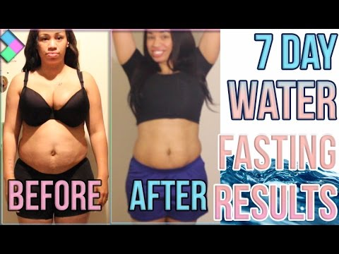 Water Fasting Results Before And After Youtube