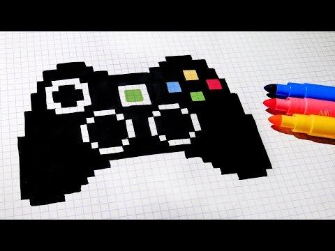 Handmade Pixel Art - How To Draw Game Controller #pixelart
