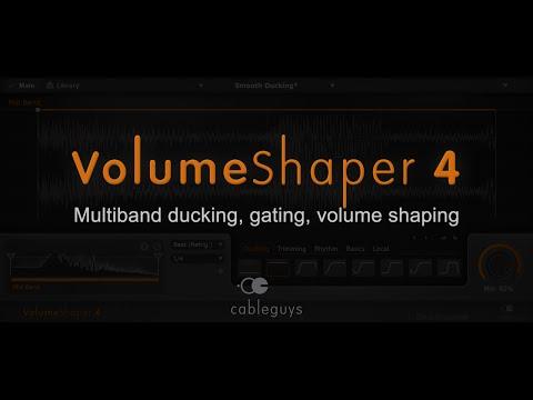 Cableguys VolumeShaper 4 - Sidechain Compression Effects, Stutter, Multiband Drum-Shaping