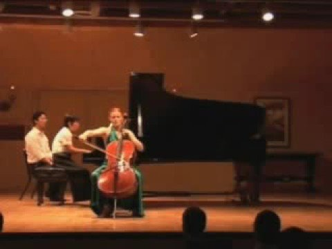 Anna Burden, cello, Schumann Concerto 1st mvt part 2