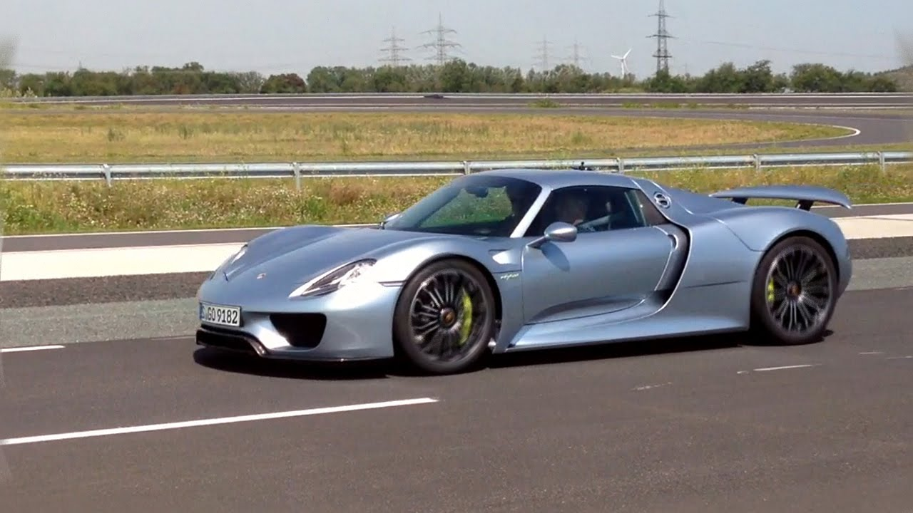 Porsche 918 Spyder Hypercar Hard Launch And Technical