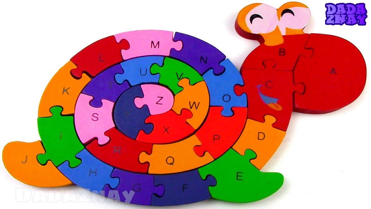 Учим Английский Алфавит|Собираем пазл Улитка|Изучаем ...