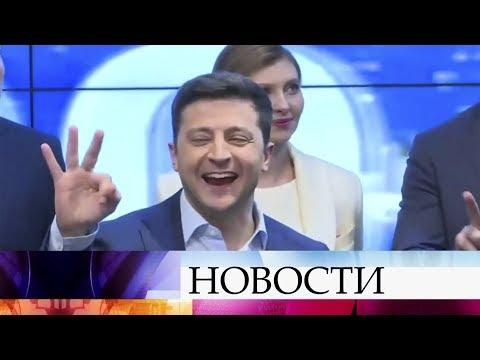 Прошла первая после закрытия избирательных участков пресс-конференция Владимира Зеленского.