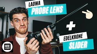 Testing out the LAOWA PROBE LENS 24mm Macro | Best lens for videos PLUS Edelkrone Slider