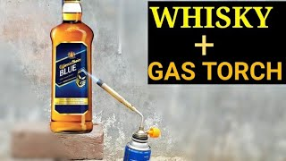 Officer's Choice vs GAS TORCH    WHISKY + FIRE    OCB WHISKY
