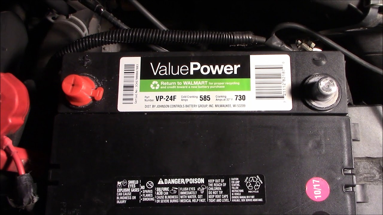 Taurus Battery Replacement And Alternator Output Testing