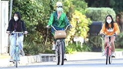 Laeticia Hallyday And Her Children Don Masks While Bike Riding In L. A.