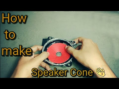 How to make speaker cone