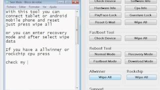 Software to Hard Reset Allwinner &  Rockchip and all other - Chinese Tablet Android Tool