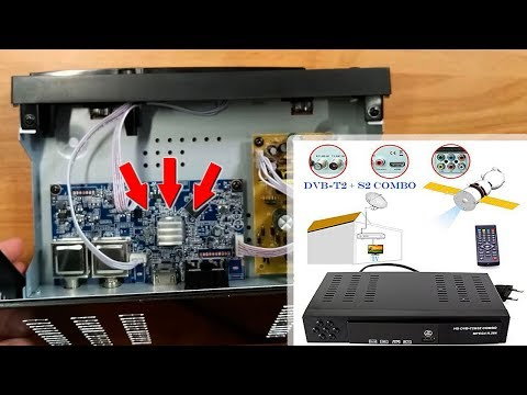 Combo DVB T2 + S2 HD Digital Satellite TV Receiver | Unboxing & disassembly / Т2 Тюнер S2 HD Combo