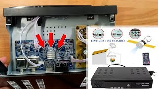 Combo DVB T2+S2 HD Digital Satellite TV Receiver | Unboxing & disassembly Satellite Receiver Combo