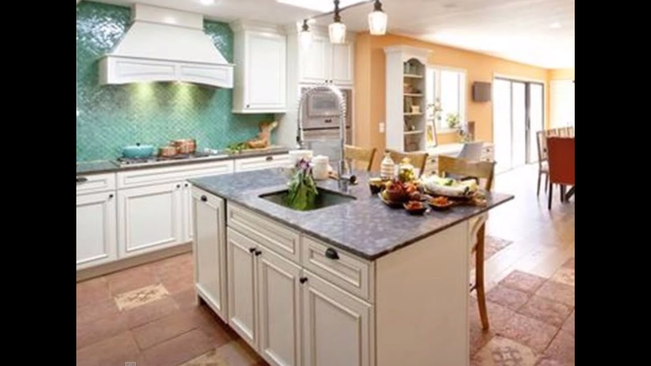 Orange Countertops In Kitchen