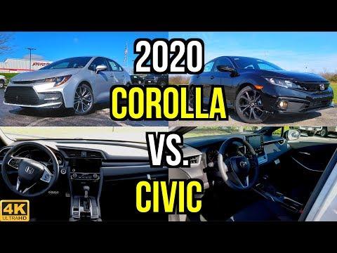 SMALL SEDAN SHOOTOUT -- 2020 Toyota Corolla SE vs. Honda Civic Sport: Comparison