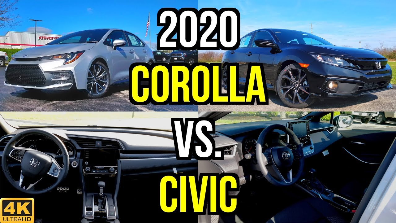 Civic Vs Corolla >> Small Sedan Shootout 2020 Toyota Corolla Se Vs Honda Civic Sport Comparison