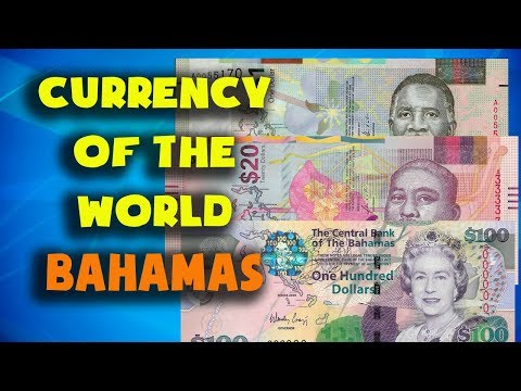 Currency Of The World - Bahamas. Bahamian Dollar. Bahamian Banknotes And Bahamian Coins