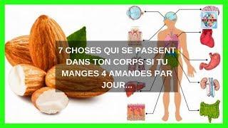 7 Choses qui se passent dans ton corps si tu manges 4 amandes par jour Video