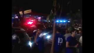 Cruzeiro 3 X 0 Real Garcilaso 09/04/2014 Tumulto Na Chegada Do Real Garcilaso Ao Mineirão.