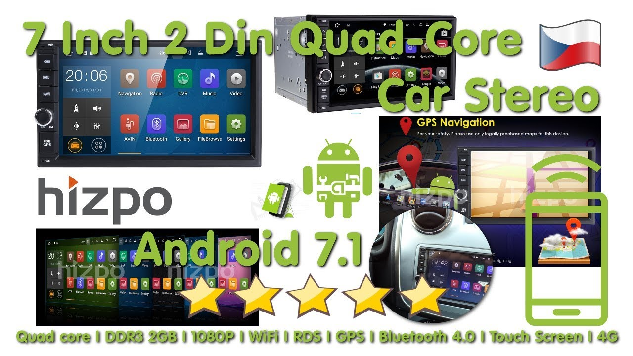 Hizpo Android 71 2 Din Car Radio Stereo Quad Core Mp5 Player Full Wiring Diagram 4g Wifi Gps Installation