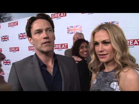 Stephen Moyer & Anna Paquin Interview at GREAT BRITISH FILM RECEPTION