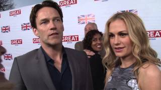 ScreenSlam -- GREAT BRITISH FILM RECEPTION - Stephen Moyer & Anna Paquin Interview