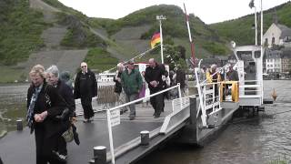 Cable Ferry accross Moselle River at Beilstein, Germany