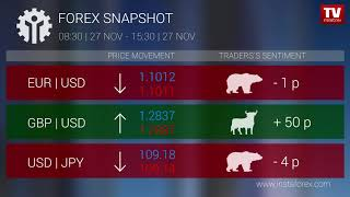InstaForex tv news: Who earned on Forex 27.11.2019 15:30