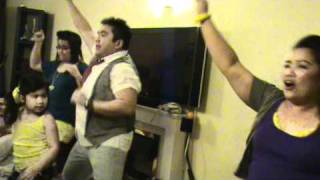 "bagets night dance to ""JUST GOT LUCKY"" new years eve 2011"