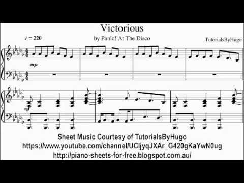 Panic! At The Disco Victorious Sheet Music