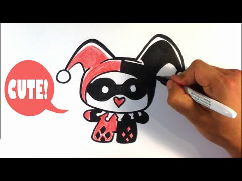 How To Draw Harley Quinn From Batman Chibi Easy Pictures To Draw