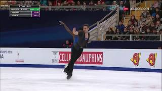 Vanessa James and Morgan Cipres FRA Short Program SP ISU Europeans 2018 (1st place) French audio
