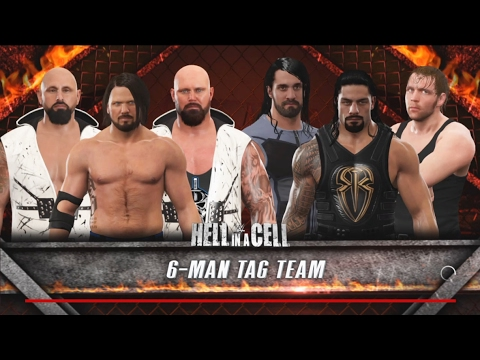 WWE 2K17-The Club vs The Shield -6 Man Tag Team  Match- Hell in A cell 2017- WWE 2K17