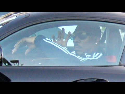 Eddie Murphy Looking Cool In His Mercedes While Taking A Spin In Beverly Hills