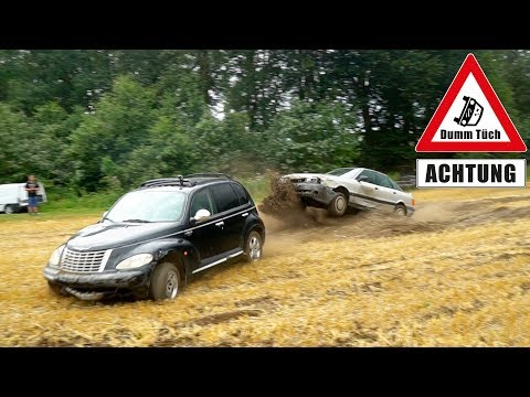 Querly vs. Stefan - Audi 80 vs. PT Cruiser Stockcar | Dumm Tüch