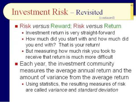 BUS123 Chapter 01 - Risk versus Return - Slides 35 to 54 - Fall 2016