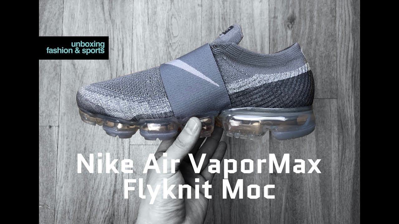 Nike Air VaporMax Flyknit Moc 'cool grey/wolf grey' | UNBOXING & ON FEET |  fashion shoes | 2018 | 4K