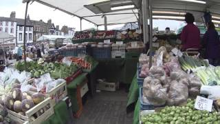 Уличный базар в Рипон UK