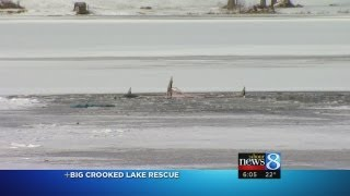 Neighbors help man who fell through ice
