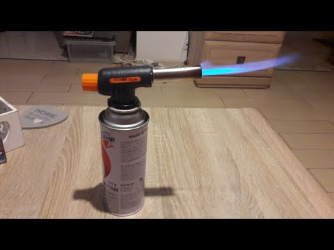 Palnik Gazowy Flame Gun Allegro Unboxing Auto Start Gas Torch Demonstration 가스 버너