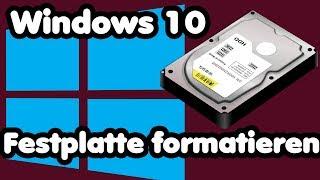 Festplatte formatieren und partitionieren unter Windows 10 | Neue Partitionen erstellen