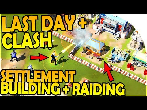LAST DAY ON EARTH + CLASH OF CLANS -BUILD + RAID SETTLEMENTS - Zombie Anarchy Survival Game Gameplay