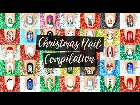 ✲ 24 Days of Christmas Nails By Jema ✲ Christmas Compilation