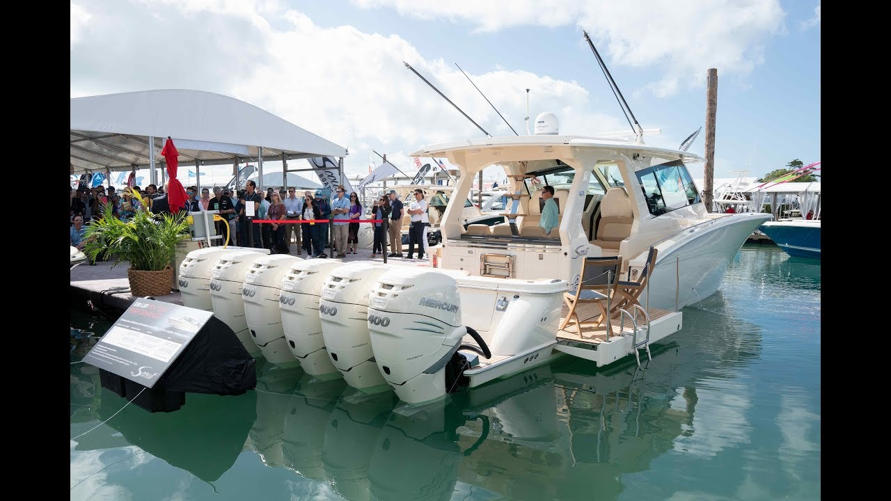 Miami Boat Show Dates 2020.In Depth Look All New Scout 530 Lxf Miami International Boat Show