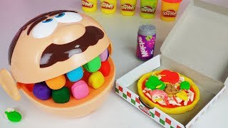 Baby Doll and Play Doh Dentist Doctor Drill food toys cooking play story - ToyMong TV 토이몽
