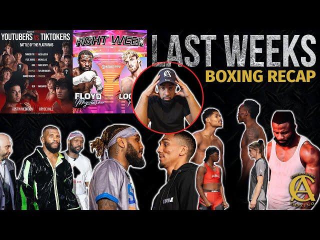 Coach Anthony's Boxing Recap! [ Logan Paul vs Floyd Mayweather + More! ]