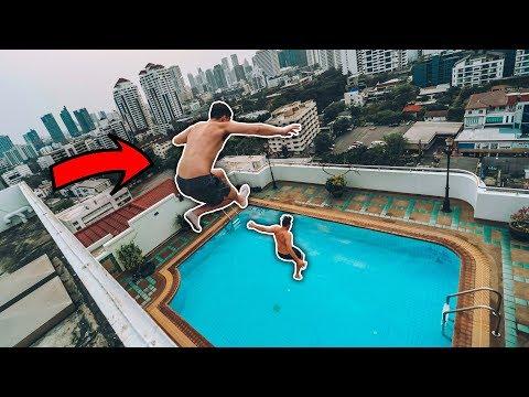 INSANE SKYSCRAPER POOL JUMP IN BANGKOK